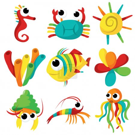 Rainbow Sea Creatures