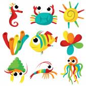 Rainbow Sea Creatures