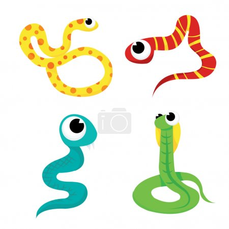 Colorful Cartoon Snakes