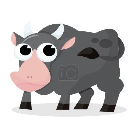 Strong Cartoon Ox