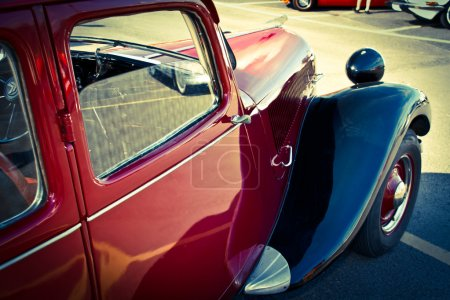 Citroen old car view on