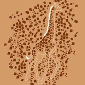 african giraffe animal from safari
