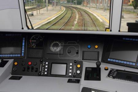 cabina de control del tren