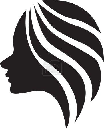Illustration pour Illustration de La belle fille (silhouette), icône design - image libre de droit