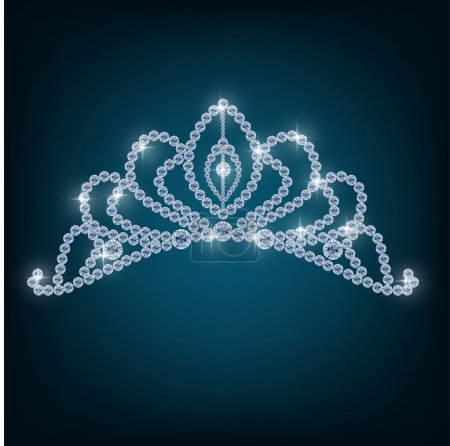 Crown with concepts from diamonds