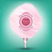 Illustration of Pink background cotton candy