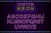 Set retro custom neon signs background
