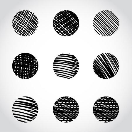 Marker hand drawn circles