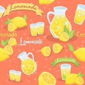 Lemonade Seamless Pattern Red