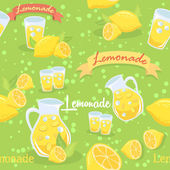 Lemonade Seamless Pattern Green