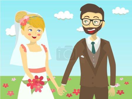 Closeup Wedding Couple in Garden