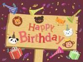 Animal Birthday Board