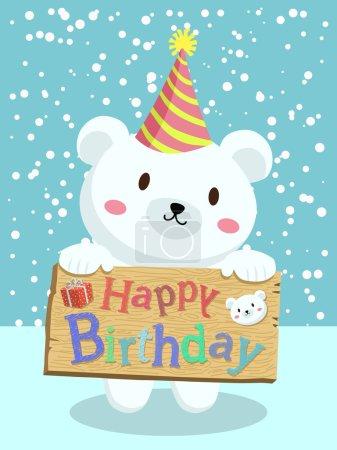 Birthday Polar Bear Cartoon