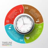 Vector circles elements for timeline infographic