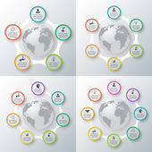 Vector circle elements set for infographic