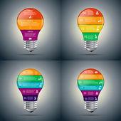 Vector lightbulb set for infographic