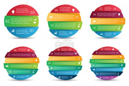 Vector set of circles for infographics.