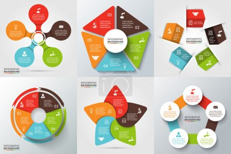 Vector circle element for infographic.