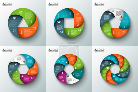 Vector spiral circle element for infographic.
