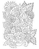 Hand drawn zentangle flower ornament