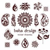 Set of boho design