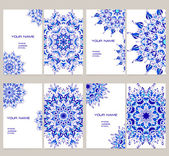 Business cards with mandalas.