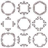 Set of black round vintage frames