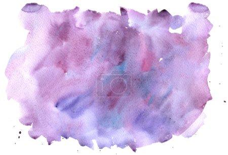Watercolor abstract purple splash