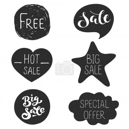 dark stickers for discount action in shop