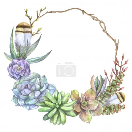 frame with tree branch,