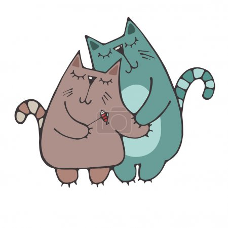 Couple lovers cats