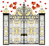 Kensington palace vector gate with hearts home of duke and duchess of cambridge royal love valentines day