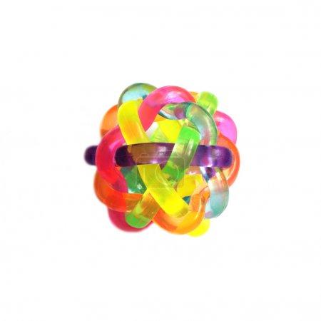 Rubber sensory ball of bright color