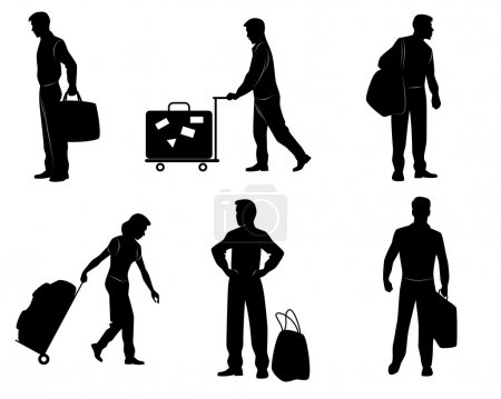 Tourists with luggage
