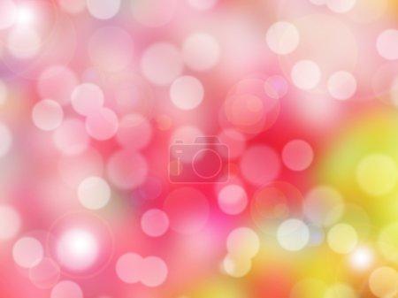 Photo pour Photo abstraite de réflecteur de rétro-éclairage et paillettes bokeh lumières fond. L'image est floue et faite avec des filtres colorés . - image libre de droit