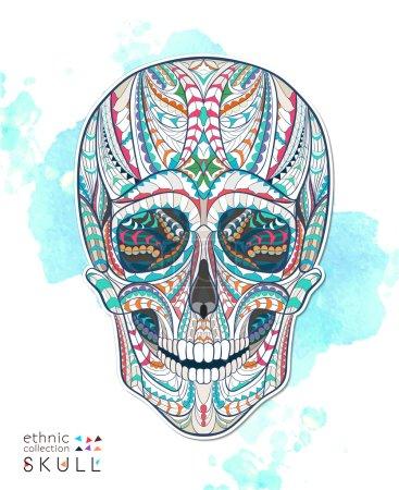 Patterned human skull