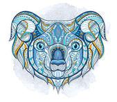 Ethnic patterned head of koala