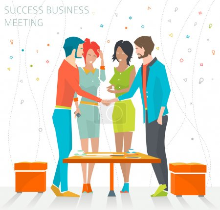 Concept of success business meeting