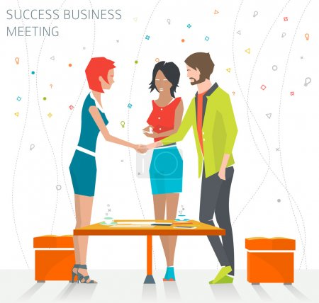 Illustration for Concept of success business meeting, handshake, good deal - Royalty Free Image