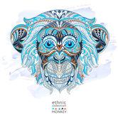 Patterned head of monkey