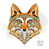 Vzorované hlava liška