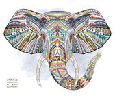 Ethnic head of elephant symbol
