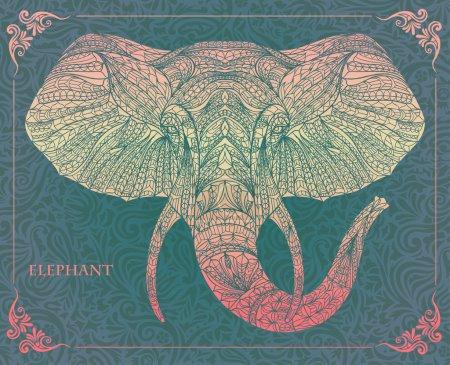 Ethnic head of elephant, symbol