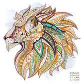 Ethnic head of lion symbol