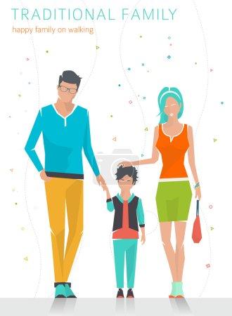 Happy traditional family