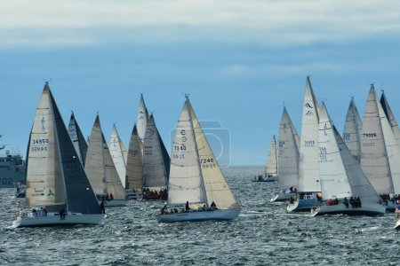 Swiftsure Yacht Race Victoria BC,Canada.,May 24th 2014.This annual yacht race attracts many racers from Seattle and many parts of the Puget sound.The Swiftsure is always a crowd pleasing draw for Victoria.