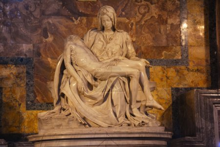 The Pieta,St.Peters Basilica Vatican City,Rome Italy,November 5th 2013.Michelangelo's first masterpiece is inside St.Peters church.It is the only piece he signed because he was so young no one believed he sculpted it.A much see when in Rome.