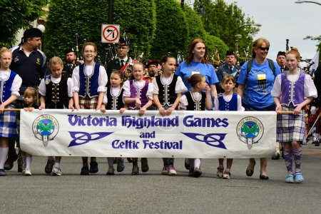 Photo for Celtic festival Victoria BC,May 10th 2014.This annual event starts with a parade through the streets of Victoria and then the highland Games begin.From hammer toss to caber throw come and have some fun. - Royalty Free Image