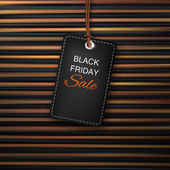 Black Friday sales tag Stock vector