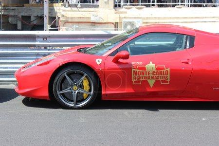 Red Ferrari 458 Italia in